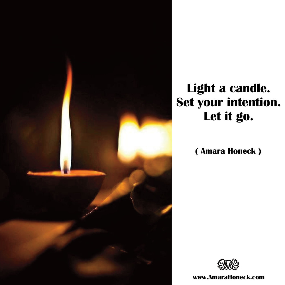 Light a candle. Set your intention. Let it go. -- Amara Honeck   Single Oil Candle   Spiritual Growth Article   Tennessee Shaman Consciousness Exploration Teacher