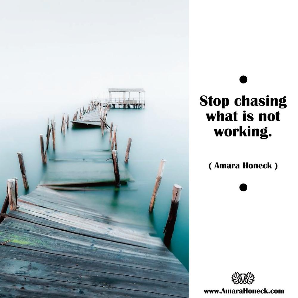 Stop chasing what is not working. -- Amara Honeck | Broken Pier | Spiritual Growth Article | Amara Honeck | Tennessee Shaman Consciousness Exploration Teacher
