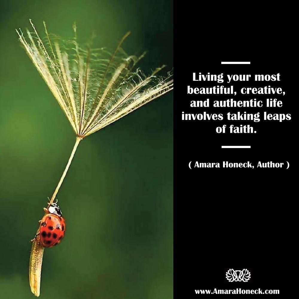 Ladybug on Dandelion Seed | Spiritual Growth Article | Amara Honeck | Tennessee Shaman Consciousness Exploration Teacher