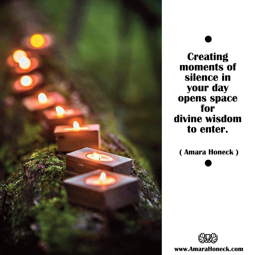 Tea Candles on Log | Spiritual Growth Article | Amara Honeck | Tennessee Shaman Consciousness Exploration Teacher
