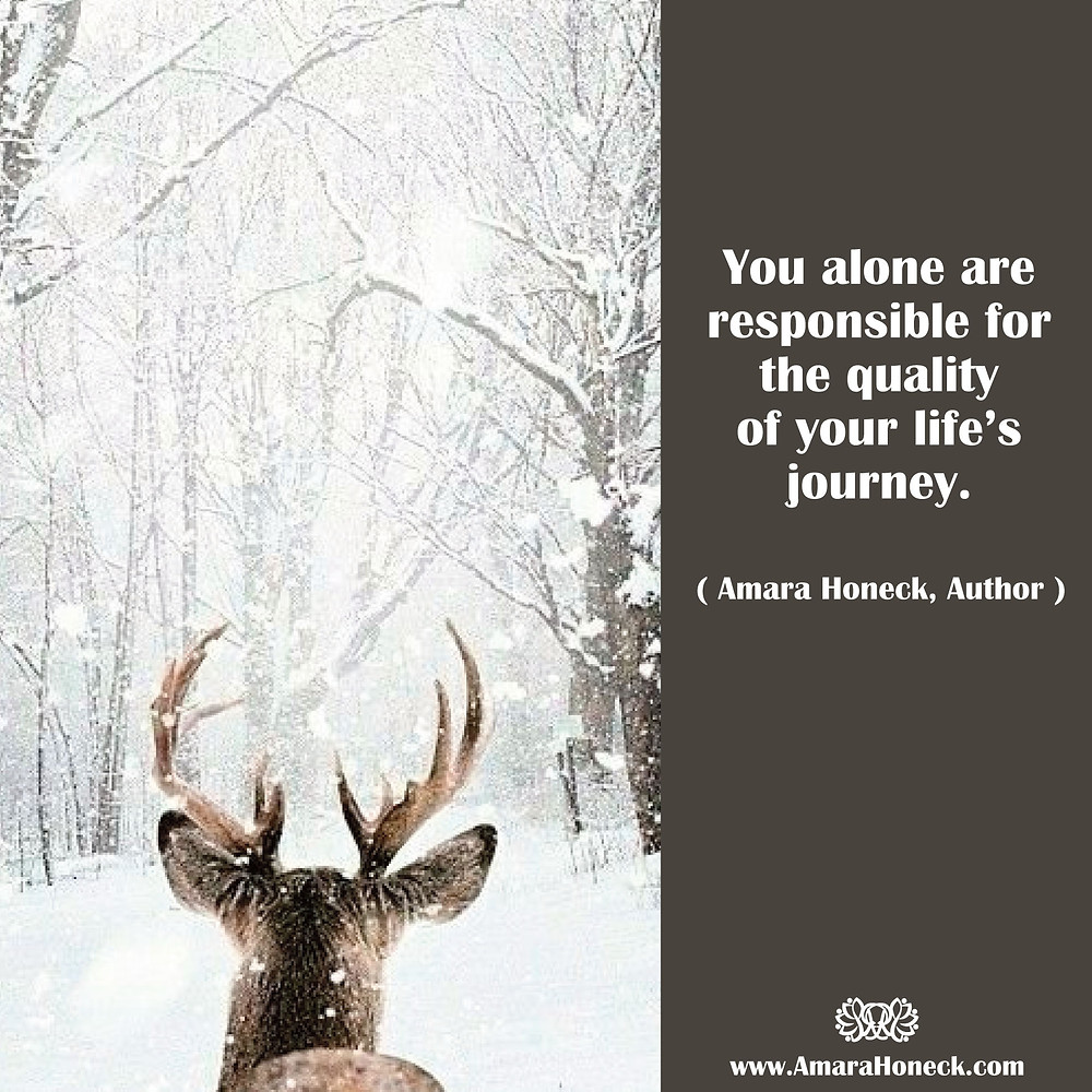 Lone Buck Forest Snow | Spiritual Growth Article | Amara Honeck | Tennessee Shaman Consciousness Exploration Teacher