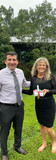 Mark Caltagirone with Donna Ward from Artemis- The Art of Living