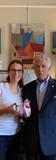 Maria Swomley with Sponsor Bob Pullo