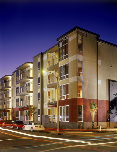 An in-fill condominium and mixed-use project in old town Pasadena