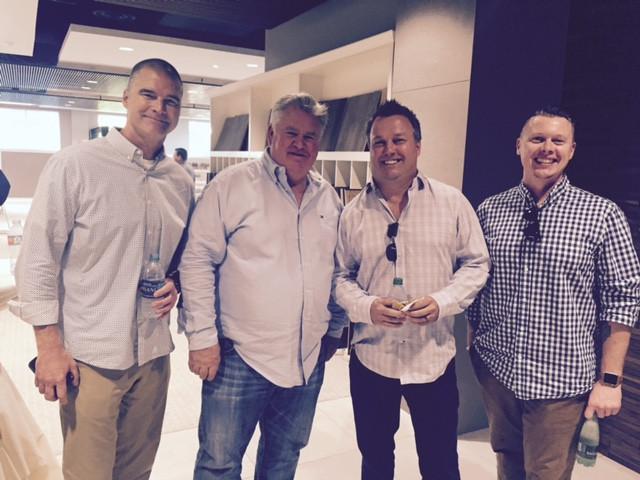 From Left, Dan Taylor, Picket Fence Design, Bill Ostrom, CalAtlantic Division President, Ryan White & Doug Cummins from Dahlin