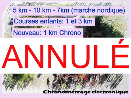 Annulation de la 2 ème Run in Claye