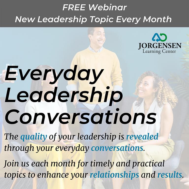 Everyday Leadership Conversations: November FREE Webinar