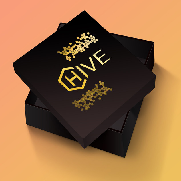 Packaging with Gold Foil Details