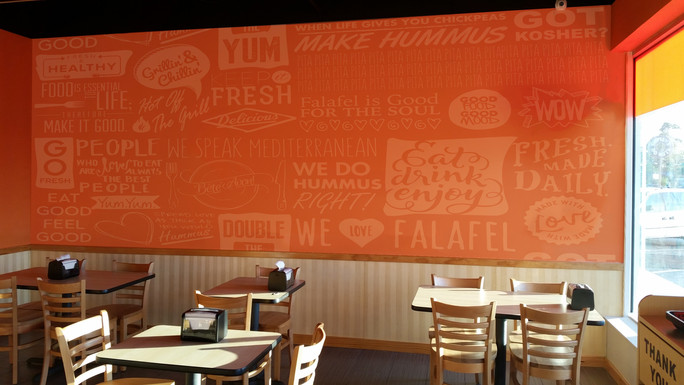Dining Area Wall Graphic