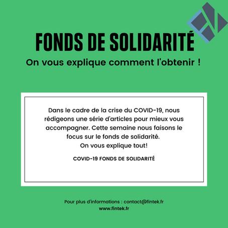 COVID-19 et aides aux entreprises. Focus sur le fonds de solidarité.