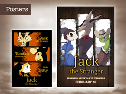 """Jack the Stranger"" Poster and Flyer"