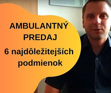 Ambulantny predaj, Ambulantny predaj povolenie
