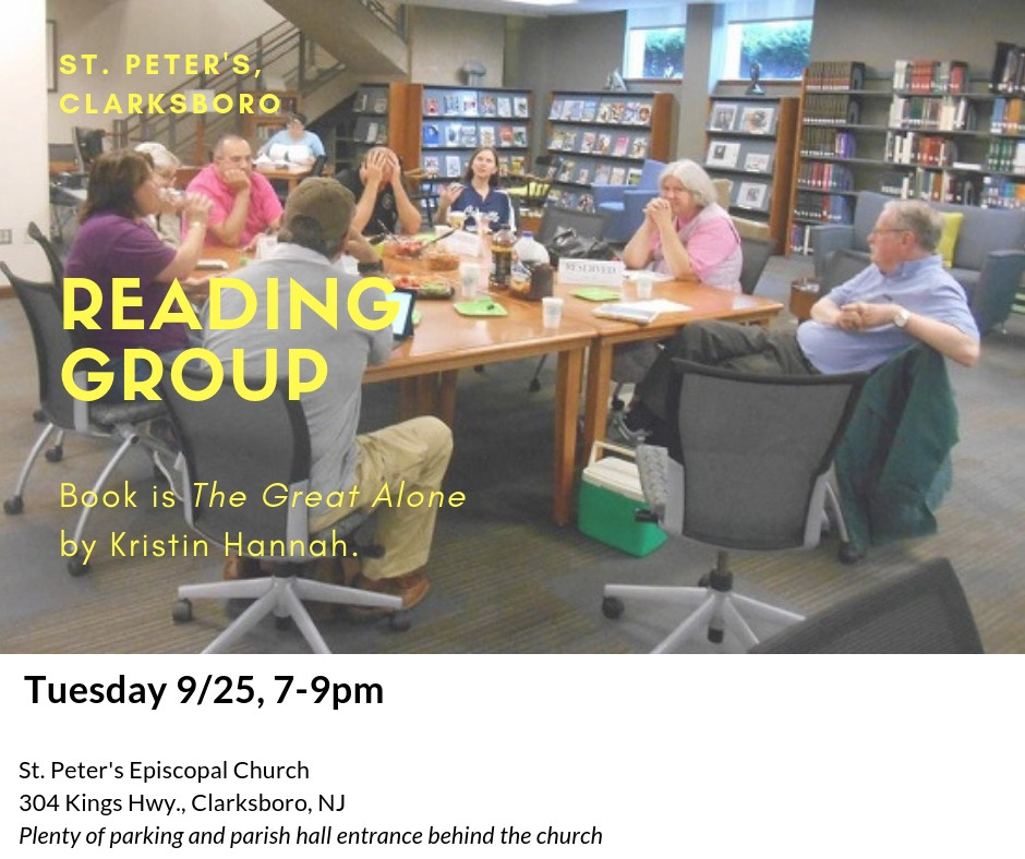 Reading Group - Tuesday 9/25, 7-9pm