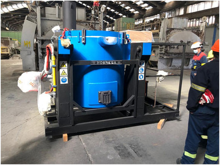 Alu Ibérica repara uno de los hornos de A Coruña para aumentar la producción un 25%