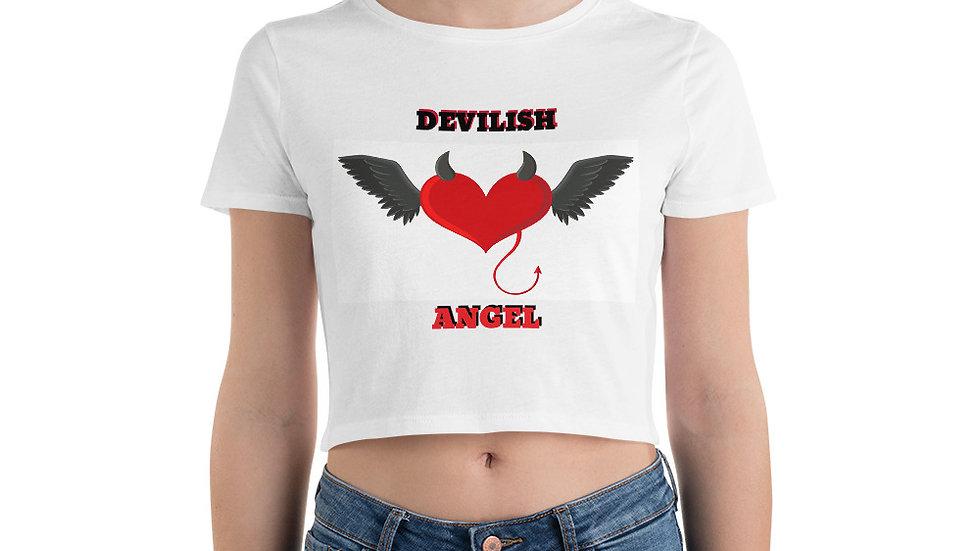 Women's Crop Tee- KenYUCK Devilish Angel