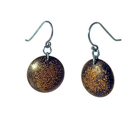 dome earrings w/ 24k gold
