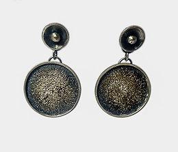 argentium coin posts w/patina