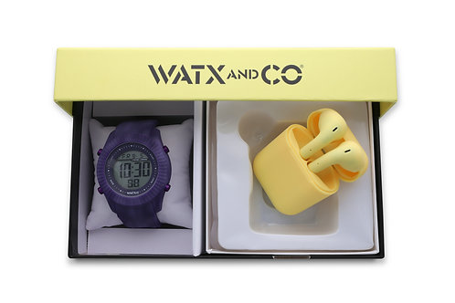 Pack Watx Smart Purple / Yellow Earbud
