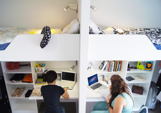 bed on the top and desk under the bed.jp