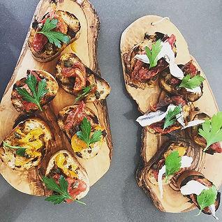 Heirloom tomato confit, grilled toast, b