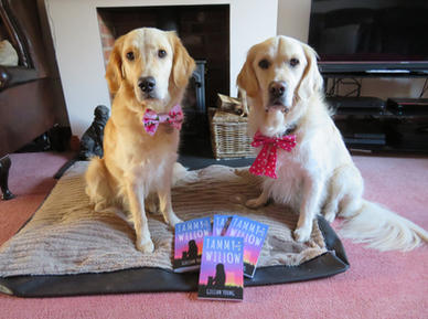 Poppy and Devon with their copies