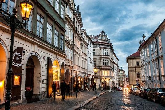 Nerudova street, Lesser Town in Prague, Czechia