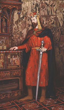 Charles IV(Karel IV.)1316 – 1378, born Václav (Wenceslaus),the secondKing of Bohemiafrom theHouse of Luxembourg, and the first King of Bohemia to also becomeHoly Roman Emperor.