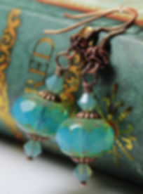 Handmade jewelry earrings from Bohemian crystal, Czechia