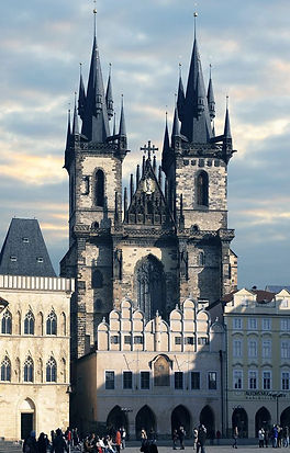 the Church of Our Lady before Týn in the Old Town of Prague, Czechia