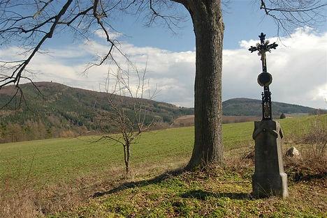 Legendary hill Blanik in early spring (Central Bohemia), Czechia