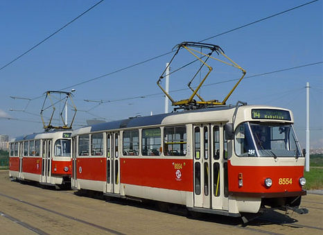 Famous Tatra T3R tram (1962), type T3R.P. It is used still today in many European countries - Czechia