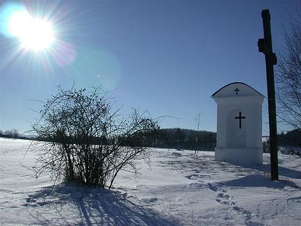 In winter countryside of Czechia