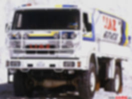 LIAZ 1987 - the winner of Dakar rallye in category of series cars Czechia