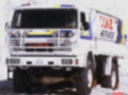LIAZ 1987 - the winner of Dakar rallye in category of series cars Czechia