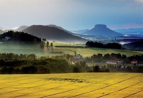 Landscape of North Bohemia, Czechia