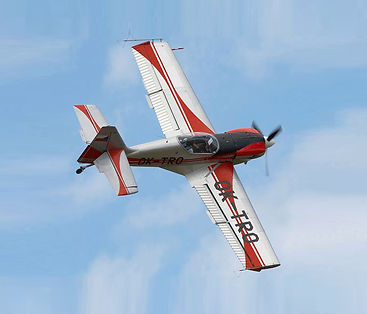 Zlín 50 built by the Czech company Zlín Aircraft. Qquintuple winner of World Aerobatic Championships Czechia
