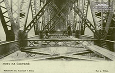 The construction of the bridge at Červená (1888) art of Czechia