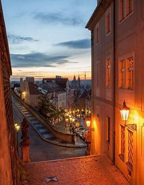 Evening Prague (Radnické stairs & Nerudova street), Prague, Czechia