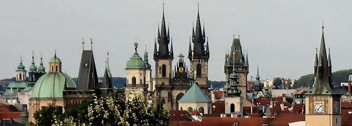 Towers of Old Town, Prague, Czechia