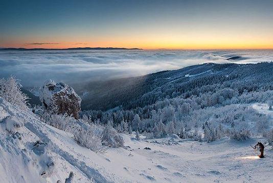 Winter in Jizera mountains (North Bohemia), Czechia