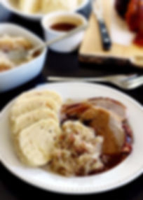 Baked pork with dumplings and sauerkraut - Czechia