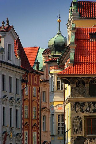 Old Town nooks with renaissance and baroque houses, Prague, Czechia