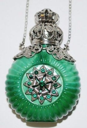 Jewelled Decorative Perfume Oil Bottle from Czechia