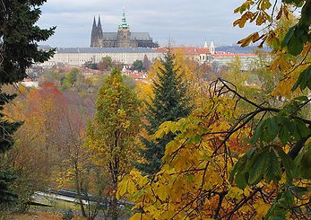 the castle from Petřín hill, Czechia