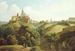 Antonín Mánes - Prague castle from eastern side - art of Czechia