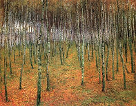 Antonín Slavíček - A birch grove (art of Czechia)