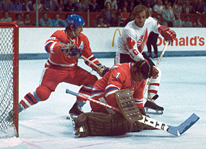 From the second final game of Canada Cup 1976 between Canada and Czechoslovakia
