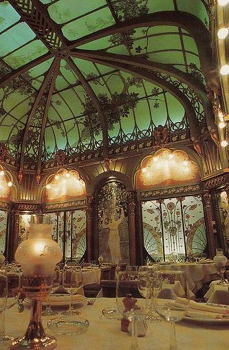 Art Nouveau interioir of Municipal house by Alfons Mucha, Prague, Czechia