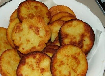 Potato badges, typical delicacy from Czechia