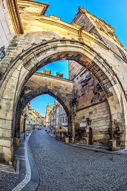 Gothic Lesser Town Tower of Charles Bridge, Prague, Czechia